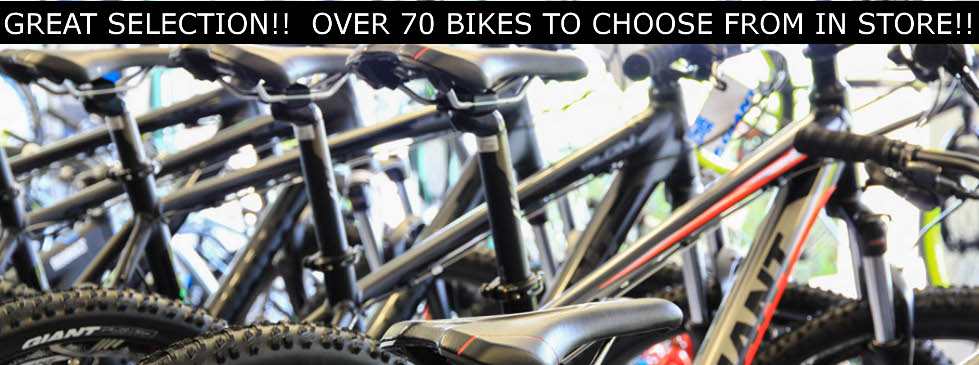 Great selection of new bikes.